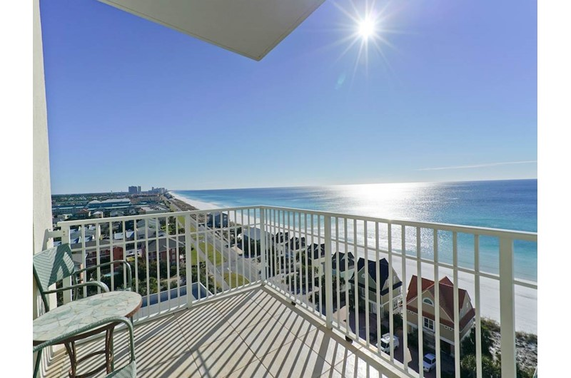 Nice view of the water from the corner unit at Leeward Key Condominiums in Destin Florida