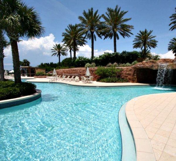 40000 square feet of saltwater pool at the Luau  in Destin Florida
