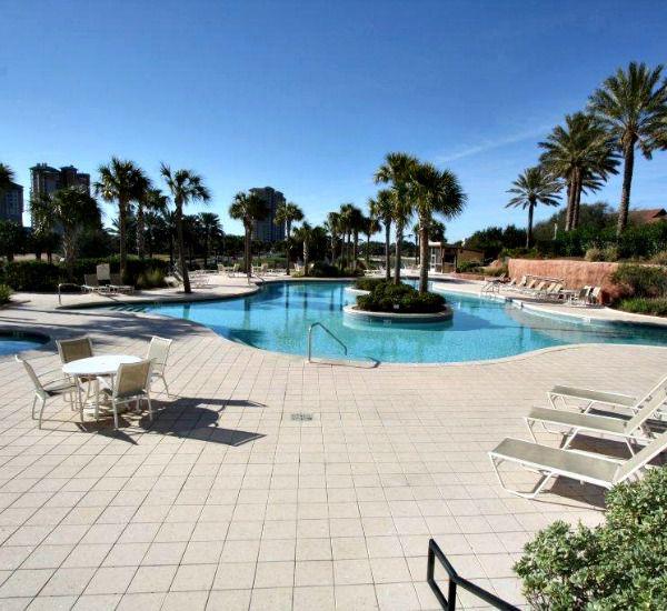 The pool at the Luau  in Destin Florida