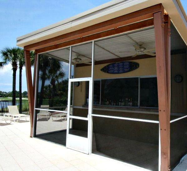 Tiki bar by the pool at the Luau  in Destin Florida
