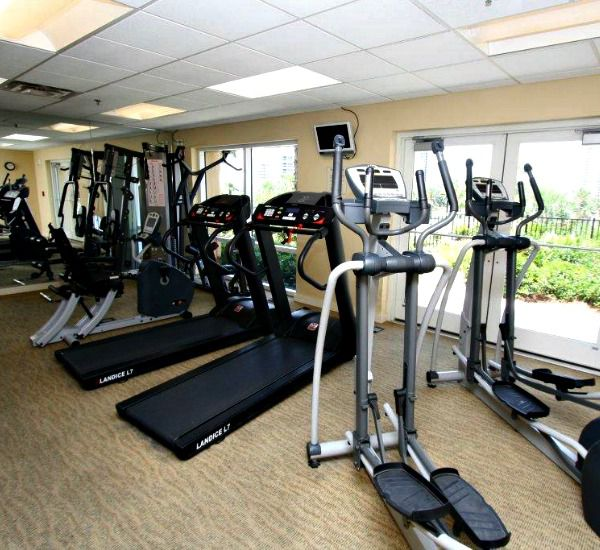 Fitness center at the Luau  in Destin Florida