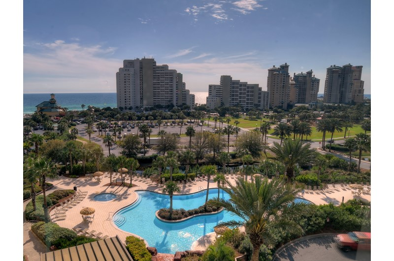 Amazing view of the grounds and pool at Luau in Destin Florida