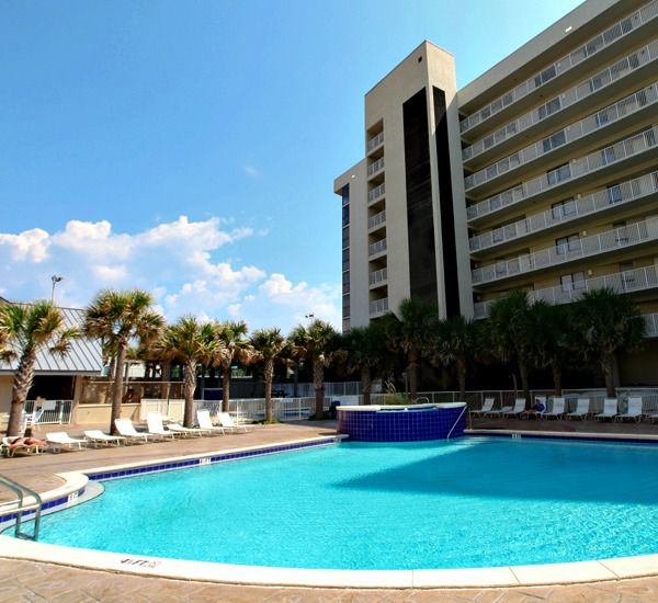 Two pools at Mainsail Condominiums in Destin Florida