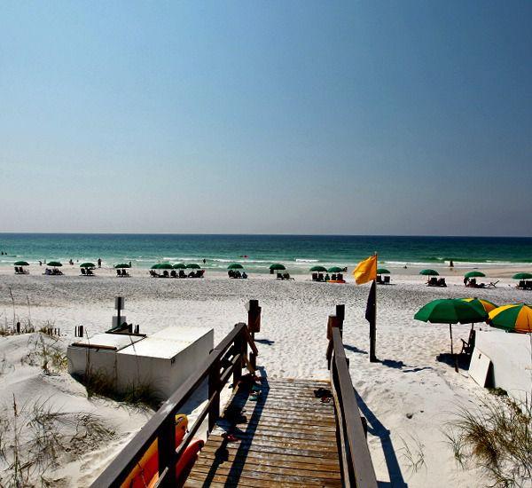Boardwalk to the beach at Mainsail Condominiums   in Destin Florida