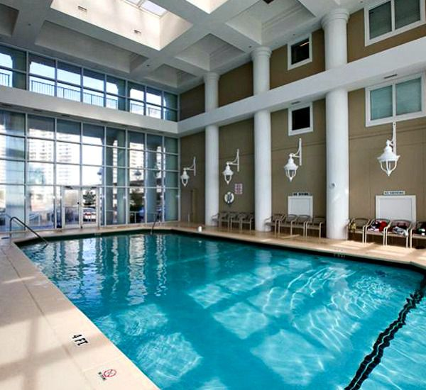 Indoor swimming pool at Majestic Sun Resort Destin