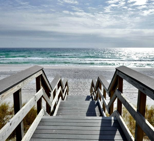 Boardwalk to the beach at Majestic Sun Resort Destin