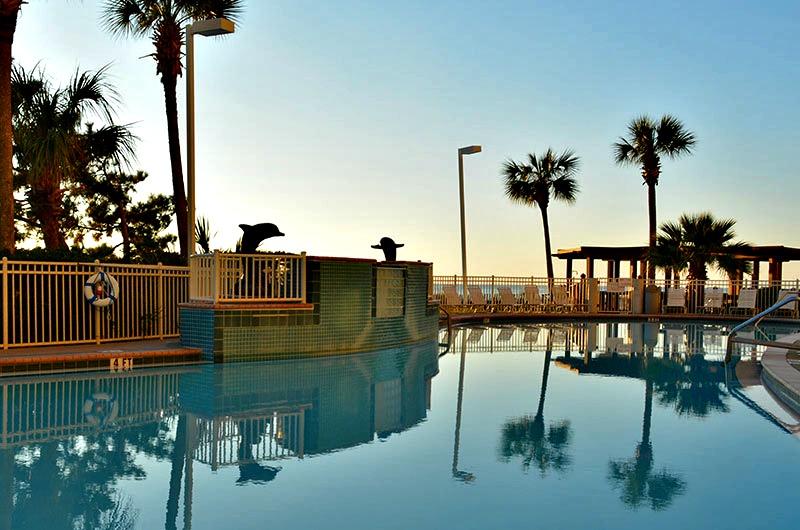 Beachside pool at Pelican Beach Resort in Destin FL