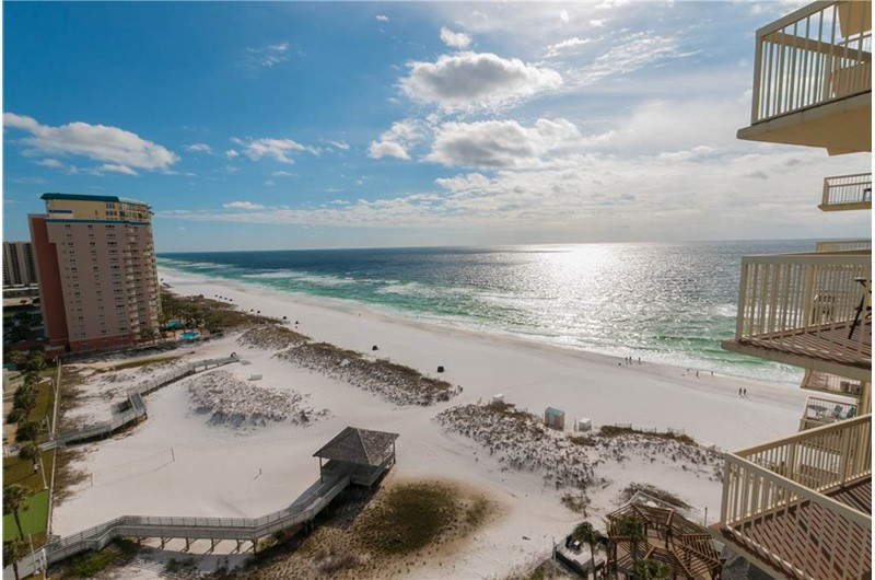 Huge view of the Gulf and beach from Pelican Beach Resort in Destin FL