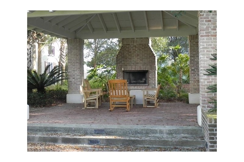 Outdoor fire place at Pilot House in Destin FL