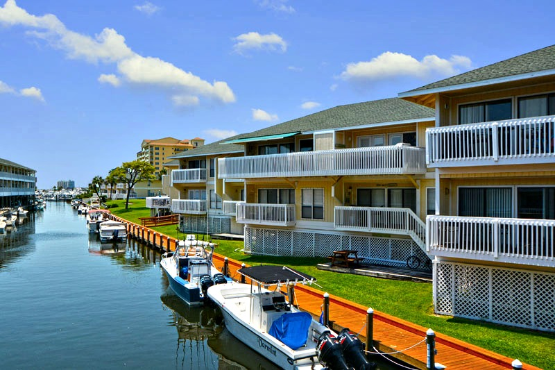 Bring you boat just steps to your door at Sandpiper Cover in Destin FL