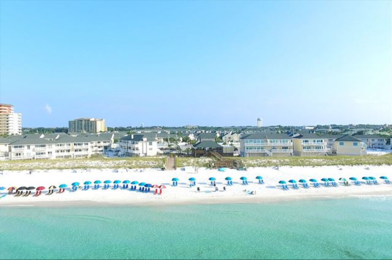 Private beach at Sandpiper Cove in Destin Florida