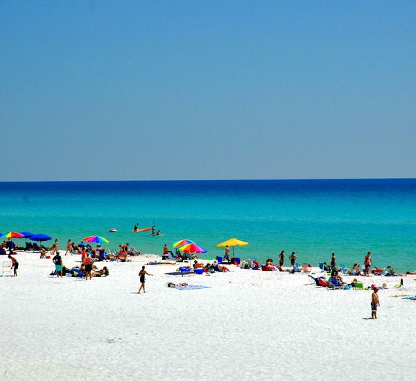 The beach is close to Seascape Villas  in Destin Florida