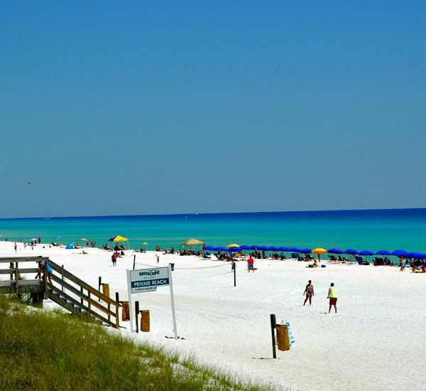 Gorgeouse beach near Seascape Villas  in Destin Florida
