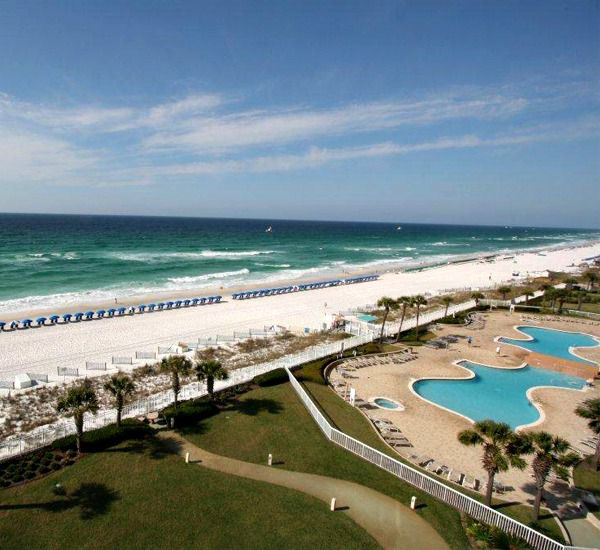 Gorgeous view of the Gulf from Silver Beach Towers Resort in Destin Florida