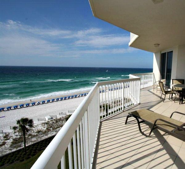 Get a tan and people watch from Silver Beach Towers Resort in Destin Florida