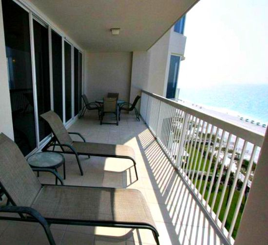 Relax on the balcony and watch the waves roll in at Silver Beach Towers Resort in Destin Florida
