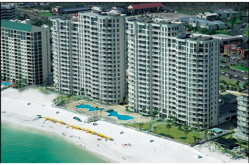 Silver Beach Towers is directly on the beach in Destin FL