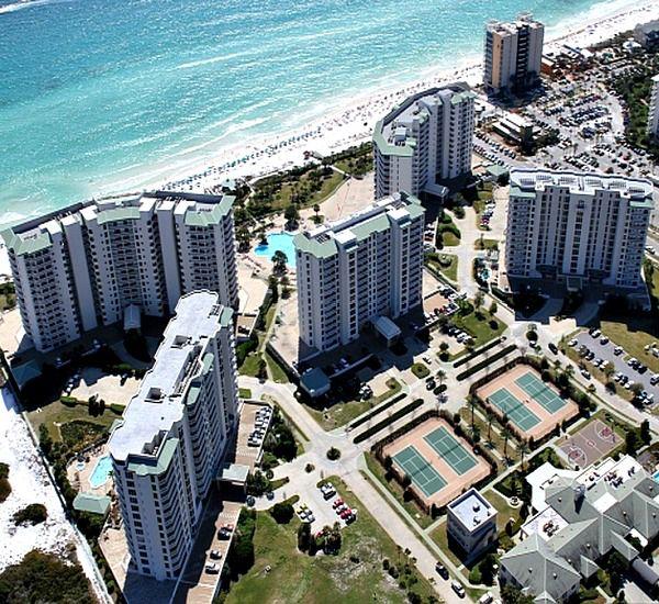 Aerial view of Silver Shells Destin FL