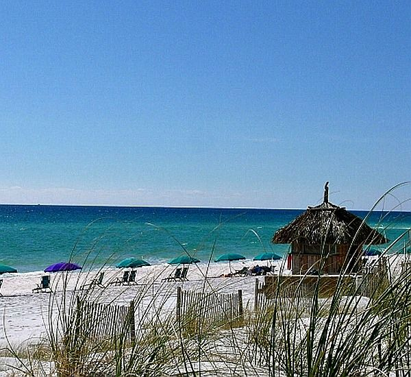 Beach view at Silver Shells Destin FL