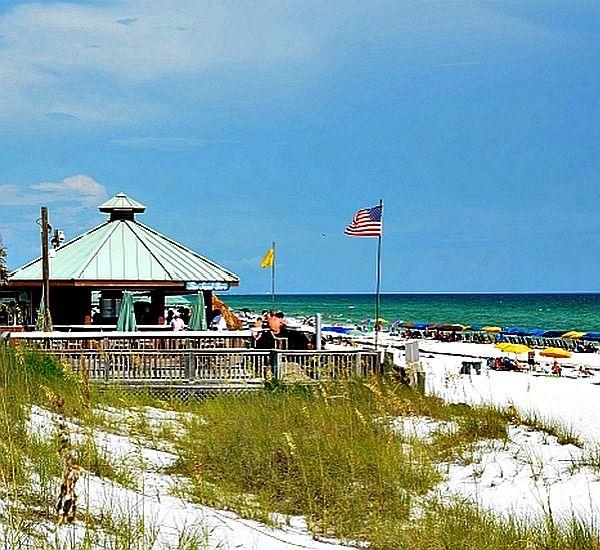 Beachfront gazebo at Silver Shells Destin FL