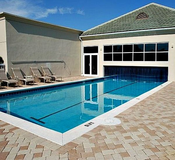 Indoor/outdoor pool at Silver Shells Destin FL