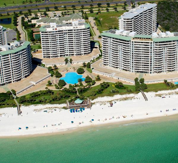Aerial view at Silver Shells Destin FL