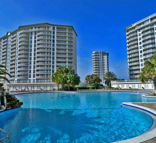 Pool view at Silver Shells Destin FL