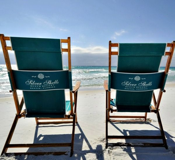 Pair of beach chairs at Silver Shells Destin FL