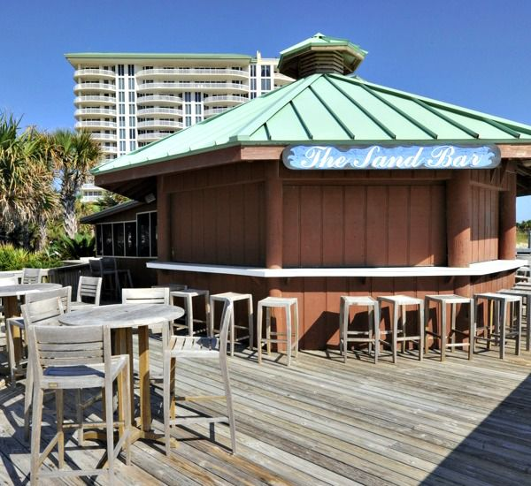 Onsite bar and grill The Sand Bar at Silver Shells Destin FL