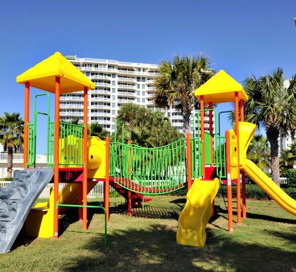 Colorful children's playground at Silver Shells Destin FL