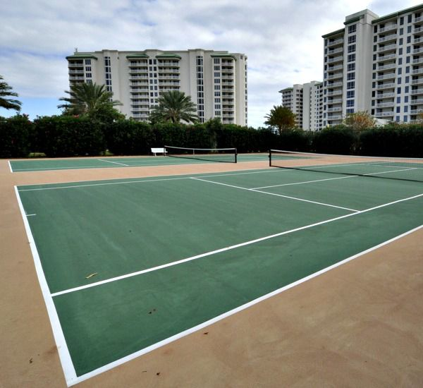 Tennis courts at Silver Shells Destin FL