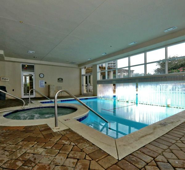 Indoor/outdoor pool and indoor hot tub at Silver Shells Destin FL