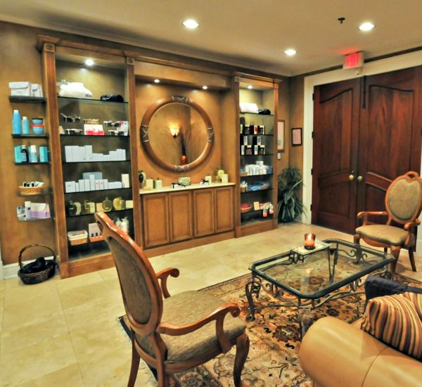 Spa products in waiting room at Silver Shells Destin FL
