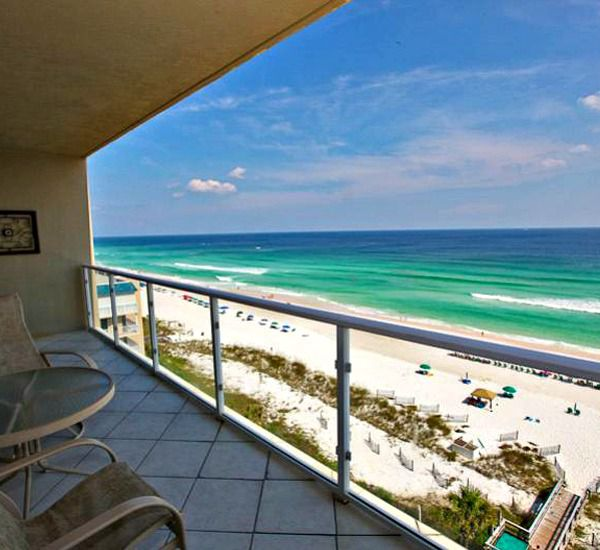 Balcony patio at Sterling Sands Condominiums in Destin Florida
