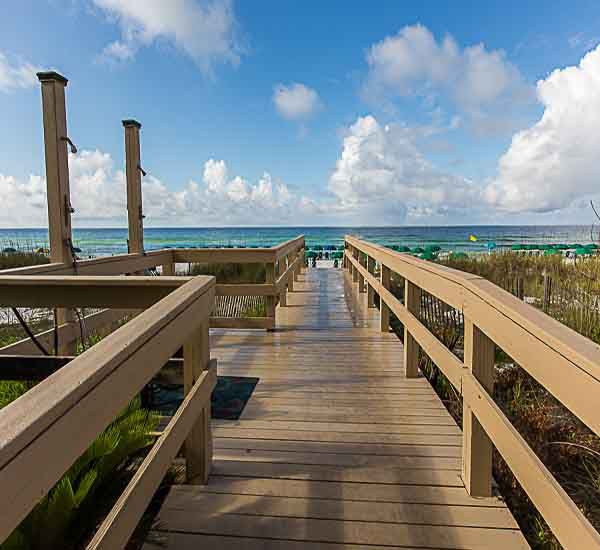 Steps away from the beach at Sterling Sands Condominiums in Destin Florida