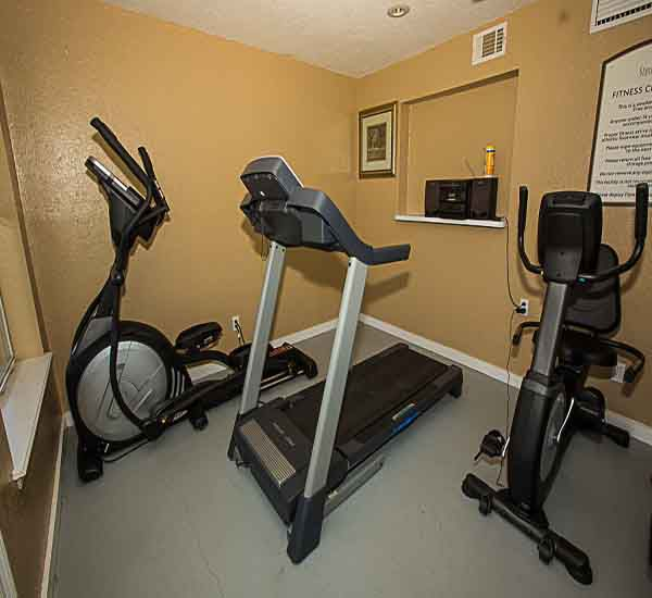 The fitness center at Sterling Sands Condominiums in Destin Florida