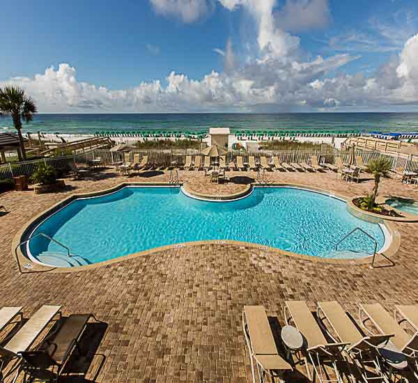 Free-form pool at Sterling Sands Condominiums in Destin Florida