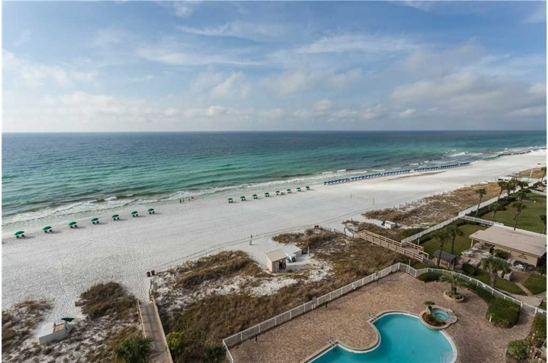 Gorgeous view from Sterling Sands in Destin Florida