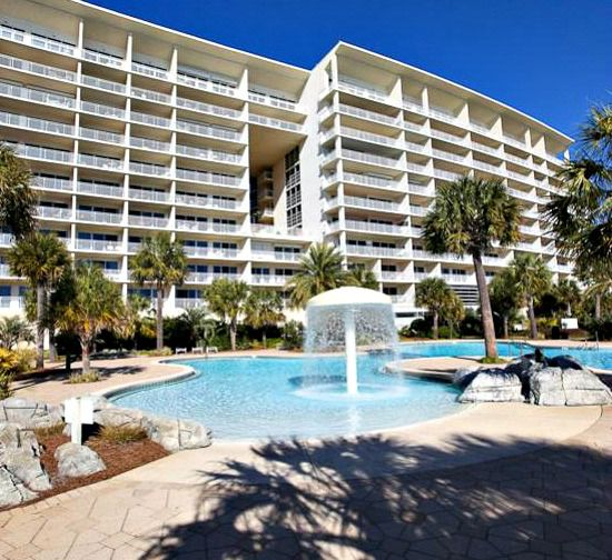 Beachside pool at the Sterling Shores Condominiums  in Destin Florida
