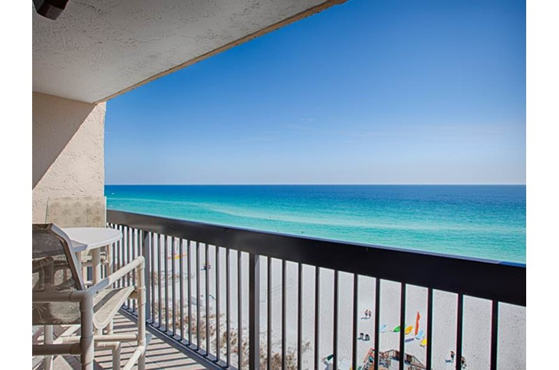 Relax on the balcony and see for miles down the coast at Sundestin Beach Resort in Destin Florida