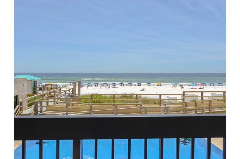 Enjoy a view of the beach and pool at Sundestin Beach Resort in Destin Florida