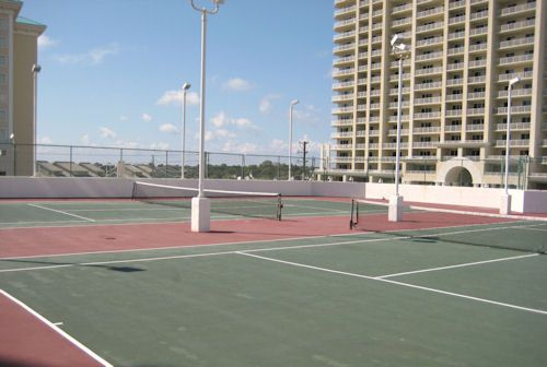 Tennis courts at Surfside Resort at Surfside Resort in Destin Florida