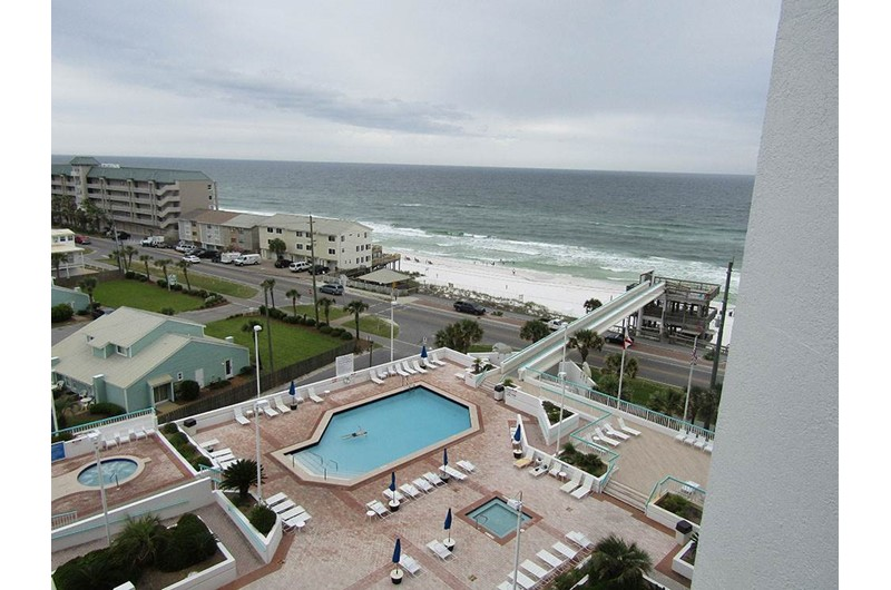 Large pool area at Surfside Resort in Destin Florida