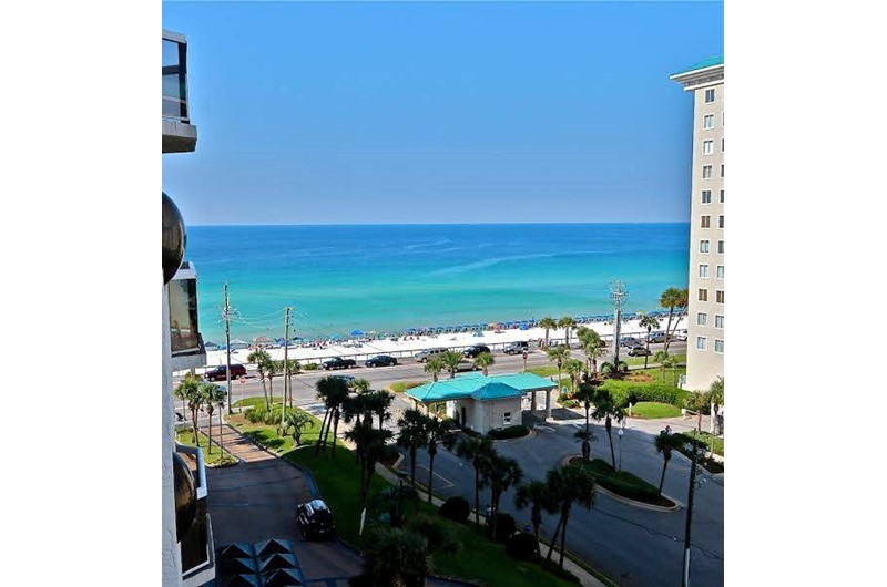 Lovely view from balcony at Surfside Resort in Destin Florida