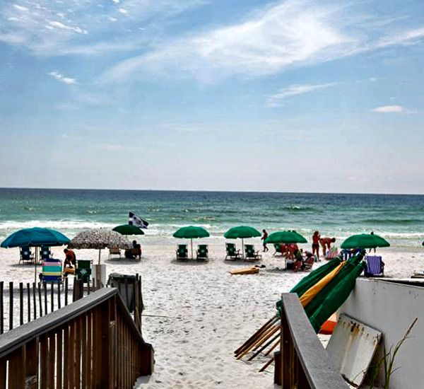 Beach access at The Islander Destin