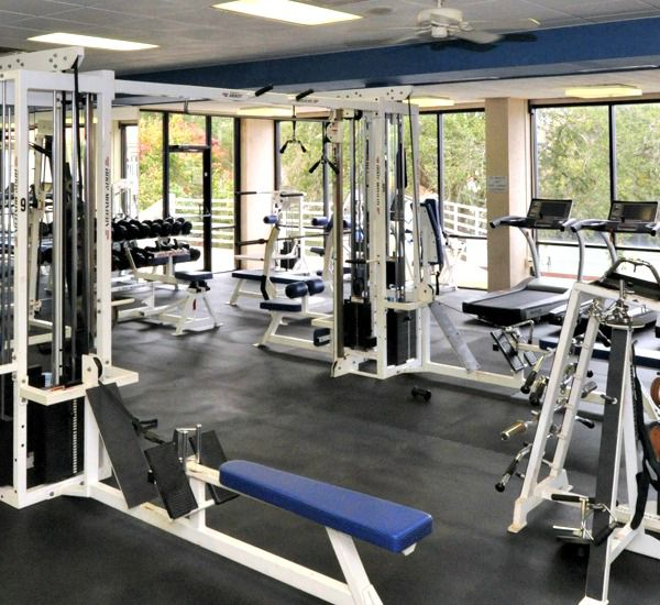 Large fitness center at TOPS'L Beach Manor   in Destin Florida