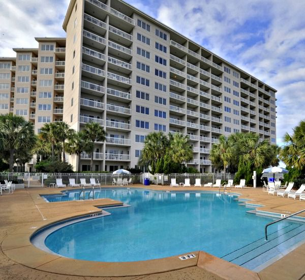 Heated outdoor pool at TOPS'L Summit   in Destin Florida