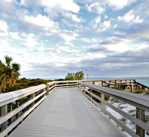 Boardwalk to pristine beach at TOPS'L Tides   in Destin Florida