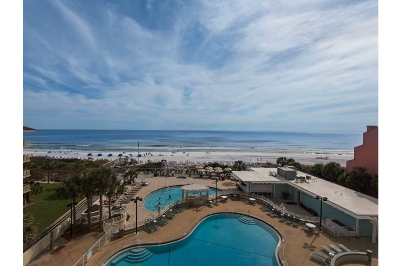 Pool and beach view from TOPS'L Tides in Destin Florida
