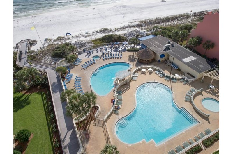 View both the Gulf and pool at TOPS'L Tides in Destin Florida